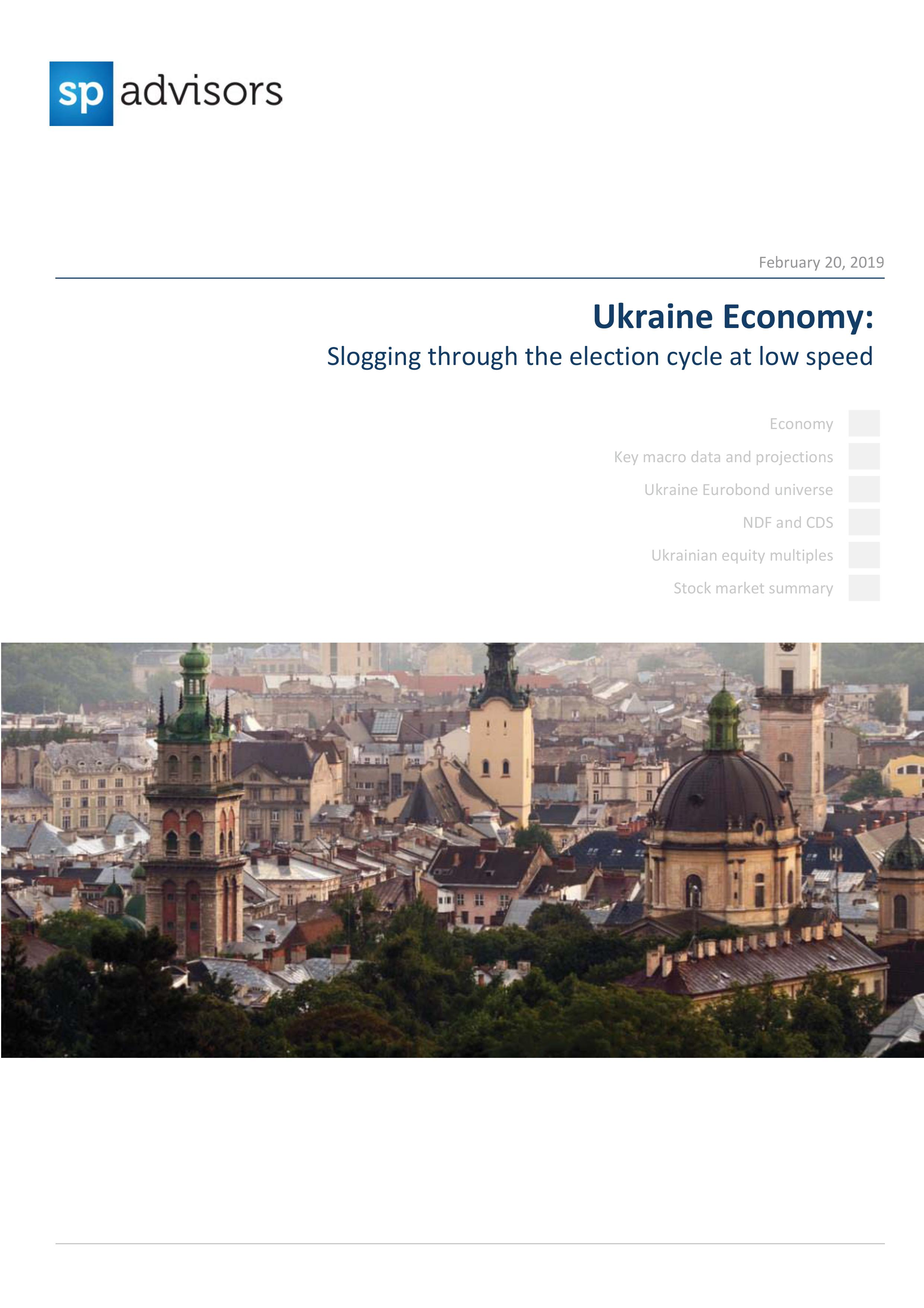Ukraine Economy: Slogging through the election cycle at low speed