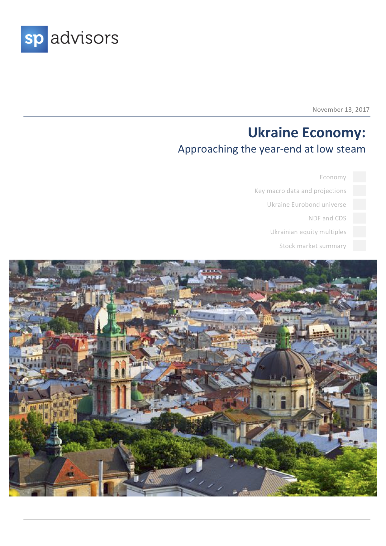 Ukraine Economy: Approaching the year-end at low steam. November 13, 2017