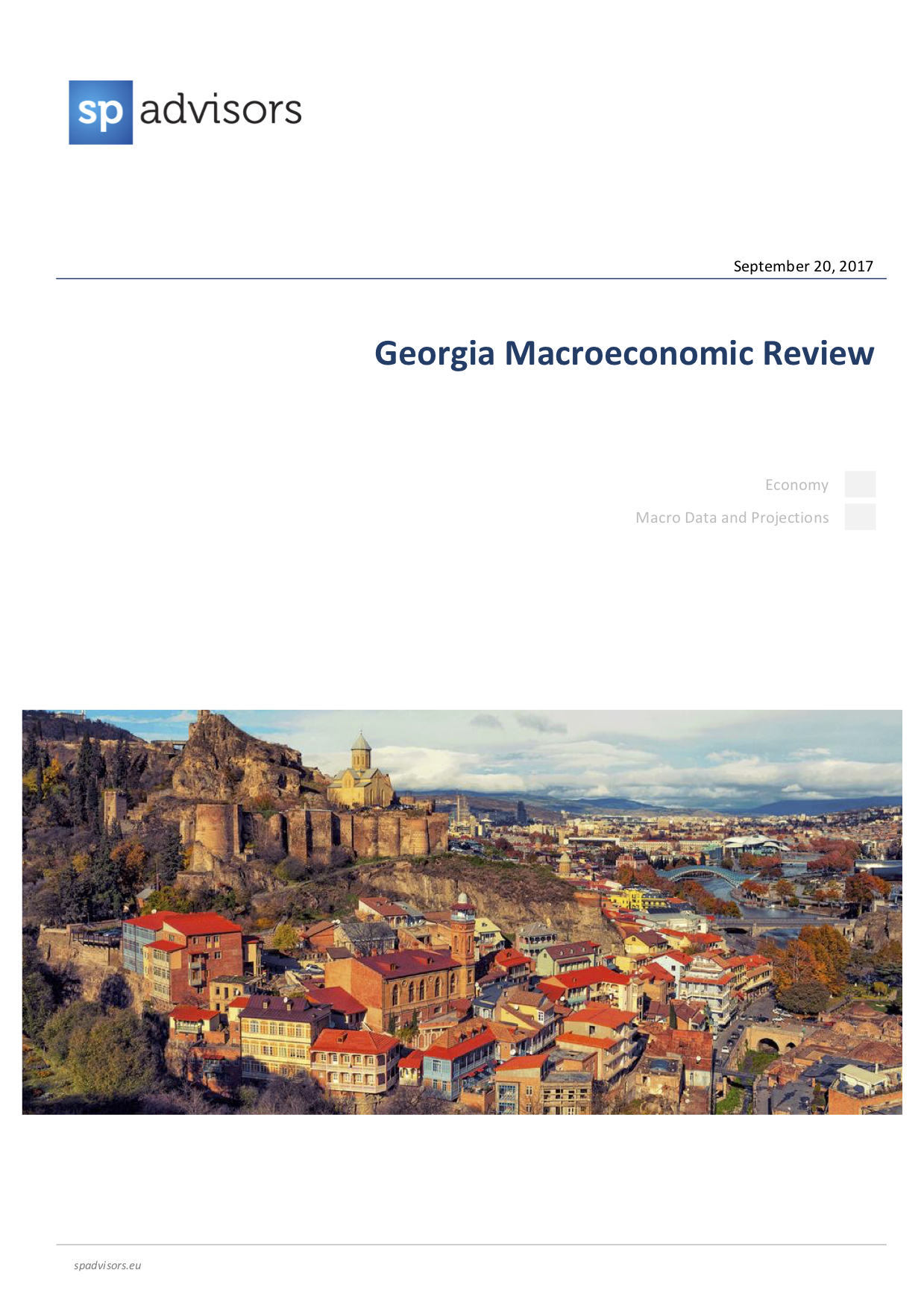 Georgia Macroeconomic Review. September 20, 2017