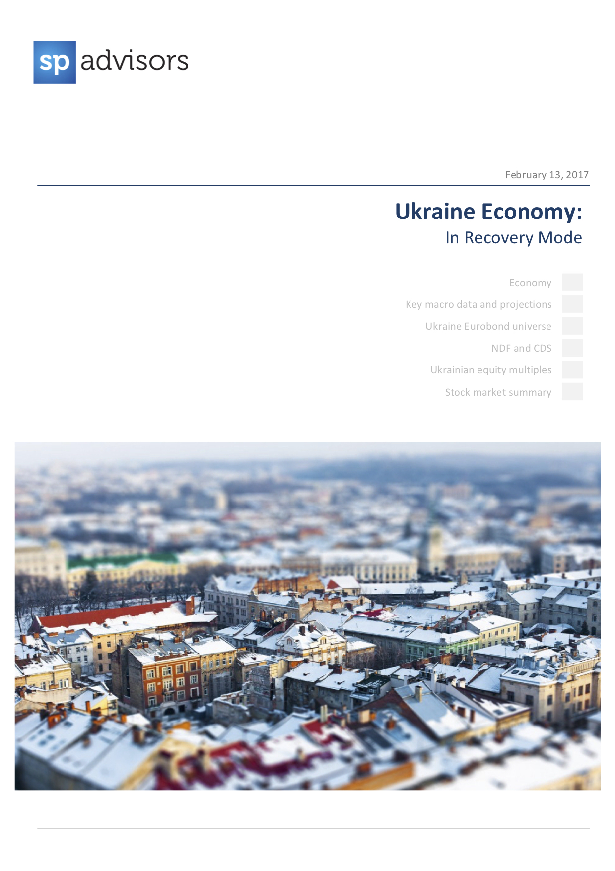 Ukraine Economy: In Recovery Mode. February 13, 2017